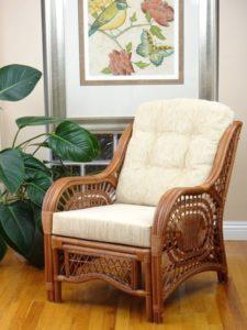 sillón de mimbre lounge