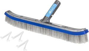 Cepillo para piscina de cerdas de alambre de acero inoxidable y nailon