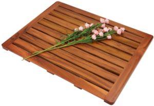 Alfombra de baño de madera de teca Utoplike