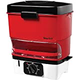 Starfrit 024730-002-0000 Vaporera eléctrica para perros calientes, roja, mediana