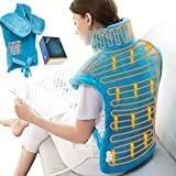 Almohadilla térmica eléctrica para aliviar el dolor de cuello, hombros y espalda, 24'x33 'XX Envoltura grande de almohadilla térmica, alivio del dolor muscular y calambres, 6 opciones de temperatura eléctrica, Envoltura de calor húmedo para la espalda