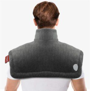 Almohadilla térmica para aliviar el dolor de cuello y hombros