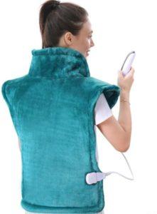 Almohadilla térmica grande para espalda y hombros