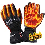 winna - Guantes térmicos para mujeres y hombres, guantes eléctricos para motocicleta con batería, esquí, senderismo, a prueba de viento, pantalla táctil habilitada (extragrande)