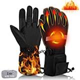 Guantes térmicos EJOY para hombres y mujeres, guantes eléctricos para esquí, motocicleta, senderismo, ciclismo, calentador de manos con batería recargable de 7,4 V y 3300 mAh