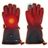 WAMTHUS Guantes eléctricos con calefacción, guantes cálidos para hombres y mujeres, 3 guantes de invierno impermeables con pantalla táctil ajustable de temperatura de calentamiento para todo tipo de actividades al aire libre (L)