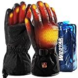 Guantes térmicos WILDYAK para hombres y mujeres, guantes térmicos eléctricos (negro oscuro, L)