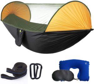 Hamaca de camping individual y doble MIHUNTER con mosquitero / mosquitera