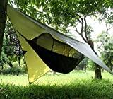 Hamaca de camping Gastonia con mosquitera y correas de árbol con mosquetones - Juego de dormir individual ligero y portátil para senderismo, mochilero, viajes, completo con bolsillo para guardar