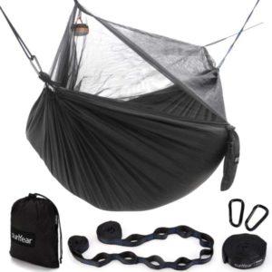Hamaca Sunyear para acampar con red / red y 2 correas de árbol