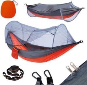 Hamaca para acampar con mosquitera y correas de árbol para hamacas de 10 pies