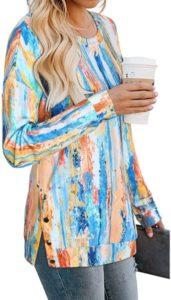 Sudadera casual tie dye para mujer