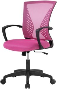 Sillas de oficina rosas