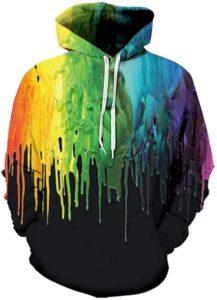 Sudaderas con capucha estampadas con efecto tie-dye para hombre