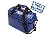 AO Coolers Sportsman Refrigerador suave de vinilo con aislamiento de alta densidad, azul real, 48 latas