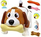 JOYIN Electronic Pet Dog, Puppy Robot Dog Toy, Inducción táctil, Reconocimiento de alimentos, Interactivo, Persiguiendo, Caminando, Bailando, Música, Control remoto y juguetes divertidos para niños, niños o niñas Regalos de cumpleaños