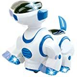 Liberty Imports Smart Robot Dog Toy - Bump and Go Electronic Pet Puppy - Paseos, bailes con luces y sonidos para niños, niños, niñas