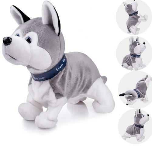 Perrito interactivo de felpa Mascota animada Perro electrónico Lindo perro robot Bebé