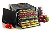 Excalibur 3900B Termostato eléctrico ajustable para alimentos con 9 bandejas, control preciso de la temperatura, secado más rápido, incluye guía para la deshidratación, color negro