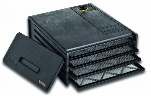 Deshidratador económico de 4 bandejas Excalibur 2400, negro