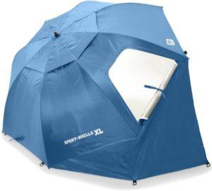tienda de campaña paraguas
