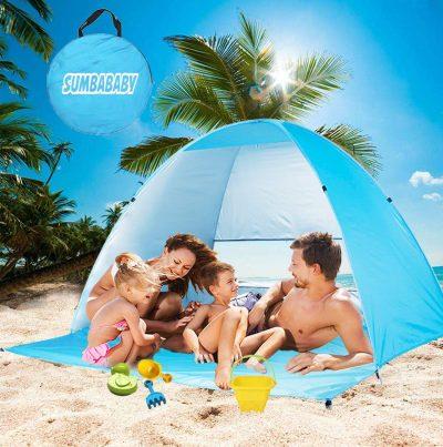 La tienda de playa grande ULTRAVIOLETA emerge las tiendas del refugio de Sun, paraguas de Sun automático portátil grande