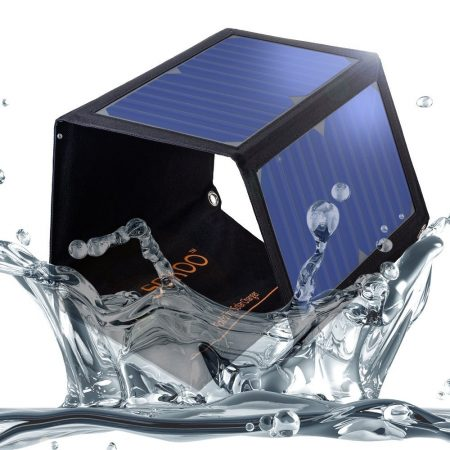 SOKOO 22W 5V 2 puertos USB Cargador solar plegable portátil con panel solar de alta eficiencia