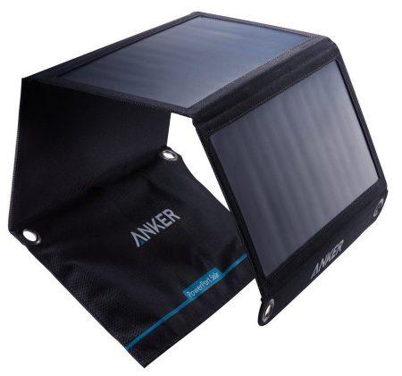 Cargador solar doble USB Anker 21W, PowerPort Solar para iPhone 7 / 6s / Plus, iPad Pro / Air 2 / mini, Galaxy