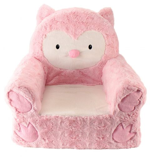 Silla infantil Sweet Seats Adorable búho rosa ideal para niños