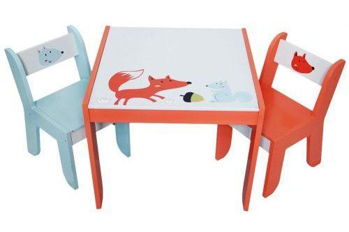 Juego de sillas con mesa de actividades de madera Labebe