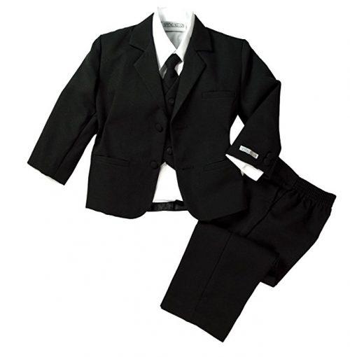 Spring Notion Conjunto de traje formal negro para bebé niño