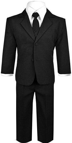 Traje de vestir formal de 5 piezas para bebé niño
