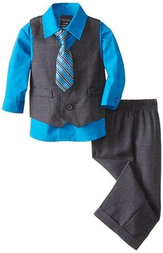 Conjunto Nautica para niño con chaleco, pantalón y camisa