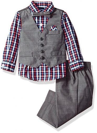 Conjunto para bebé niño Nautica con chaleco, pantalón, camisa