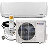 aire acondicionado Pioneer WYS012A-19 Inversor sin ductos de montaje en pared + Mini bomba de calor dividida, 12000 BTU-110 / 120V
