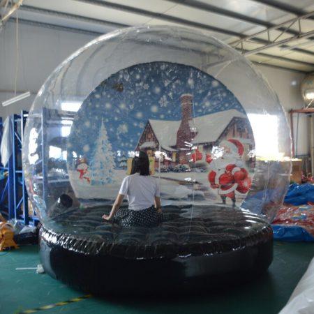 Decoración navideña Sayok Globo de nieve inflable tienda de campaña de burbuja transparente tienda de campaña de burbuja