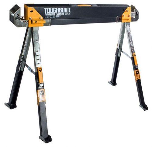 Caballete de construcción resistente ajustable hasta 4 x 4 Brazos de soporte de tamaño 1300 LB de capacidad