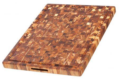 Tabla de cortar de teca - rectangular
