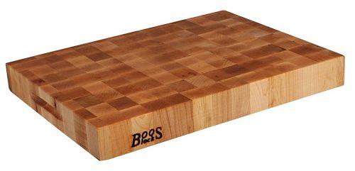 John Boos Block CCB2015-225 Bloque de corte clásico reversible de madera de arce, 20 pulgadas x 15 pulgadas x 2,25 pulgadas