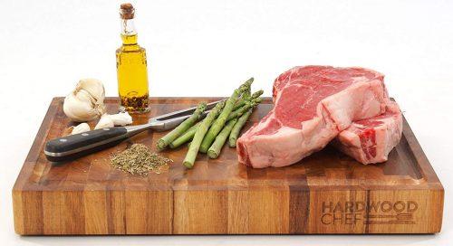 Tabla de cortar de grano de madera de acacia gruesa de calidad superior de Hardwood Chef -Tablas de corte