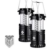 Etekcity Lantern Linternas LED de camping, luces de camping con pilas, linterna al aire libre, aptas de camping, senderismo, kits de supervivencia para emergencias, cortes de energía, huracanes (baterías incluidas)