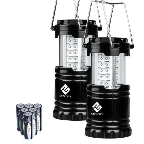 Etekcity - Paquete de 2 linternas LED portátiles de camping, linternas de camping