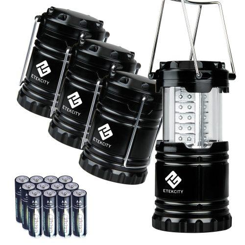 Etekcity Paquete de 4 farolillos LED portátiles de camping