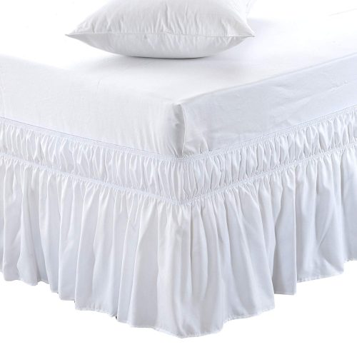 MEIel faldón de cama sólida elástica con tres lados envolventes