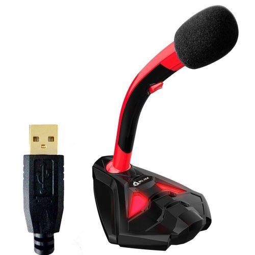 Micrófono USB de escritorio KLIM Voice para ordenador portátil PS4 y micrófonos para juegos PS4