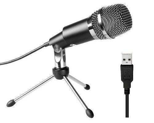Cinco micrófonos USB Micrófono, Plug & Play Home Studio Micrófono de condensador USB