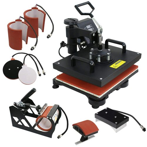 F2C Pro 6 en 1 máquina de prensa camiseta sombrero placa sombrero tapa taza placa máquina de sublimación transferencia digital