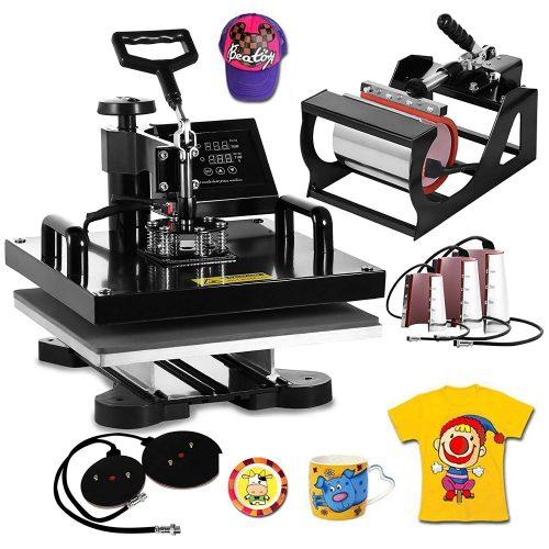 VEVOR15x15 pulgadas 8 en 1 máquina de prensado de calor multiusos de sublimación digital de promoción automática para camisetas Máquinas de serigrafía de tazas