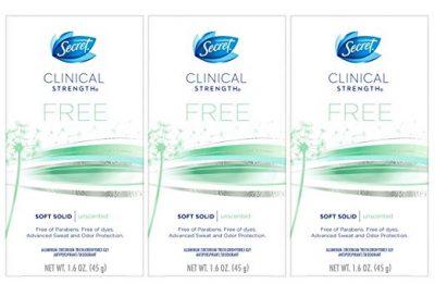 Desodorante antitranspirante secreto para mujer