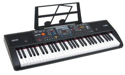 Plixio 61 Keyboard Piano Electric Music con entrada USB y MP3 - Piano eléctrico portátil